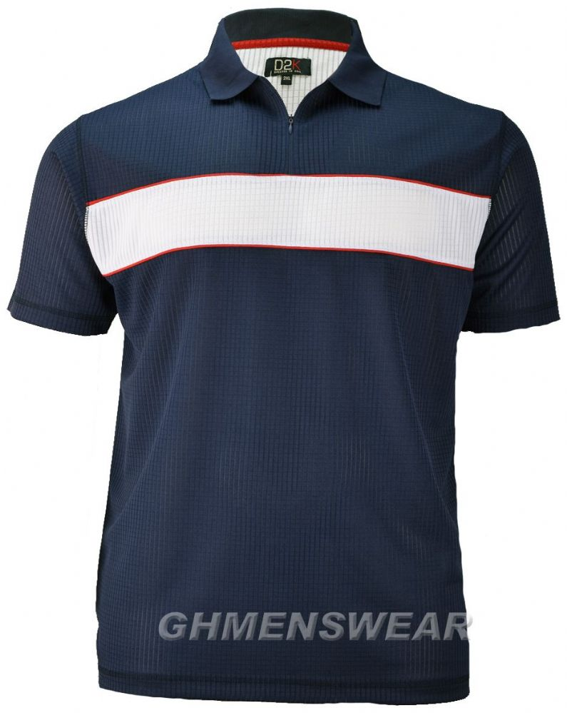 D2K Mesh Polo Shirt - NAVY